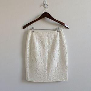 KEEPSAKE the Label Skirts - Keepsake The Label Ivory Lace Pencil Skirt